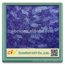 PVC decorativo papel pintado/PVC de cuero decorativo con metálico