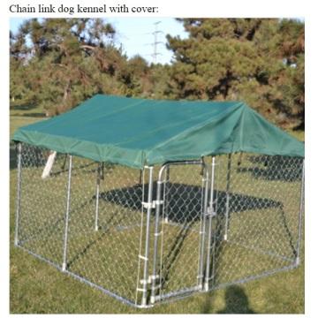 Jaula para perro con cerca de metal