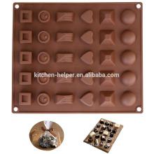 Beliebte verschiedene geformte Silikon Küche Schokolade Schimmel