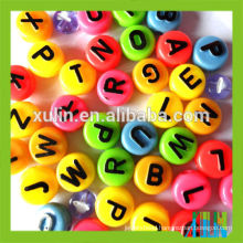 beads for rosary making neon plastic letter beads