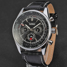 Mens Automatic Movement Fashion Leather Strap Relógios