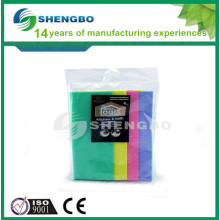Colors needle punched nonwoven wipe 38*38cm