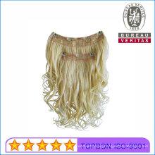 Human Hair Virgin Hair 2 Piece 100% Brazilian Hair Clip Hair Extension Remy Hair