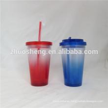 Protein shaker 16oz freedom water straw mug