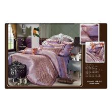 Tencel / algodón jacquard + bordado de lujo conjunto de ropa de cama bordada