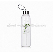 Promotional Sealed Heat-resisting Sport Water Bottle With Stainless Steel Screw Lid