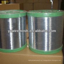 0.28mm material de malla de alambre de hierro para el mercado de Corea del Sur caliente sumergido hilo de hierro galvanizado