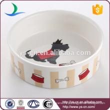 Bacia cerâmica nova do projeto para o cão