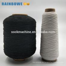 Einfache Farbe Rohstoffe für Socken Polyester-Latex-Gummi-Garn bedeckt