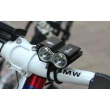 Lampe frontale à bicyclette à bicyclette à LED Lumen 2X CREE Xm-L U2 2000