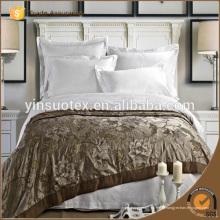 Высокое качество 100% хлопчатобумажной простыни Белые Stipe Hotel Bed Sheets