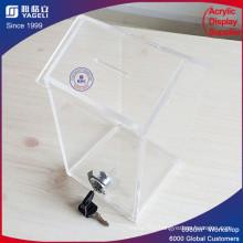 Customized House Shaped Clear Acrylic Donation Box