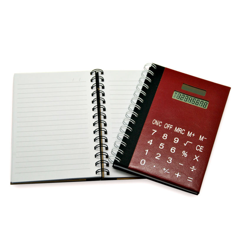 8 Digits Solar Power School Notebook Calculator