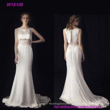 Neue heiße Verkaufs-Fabrik direkt eine Linie preiswertes Hochzeits-Kleid hergestellt in China