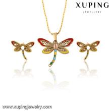 63815 Mode délicat plaqué or Butterfly Imitation bijoux en acier inoxydable Set pour les femmes