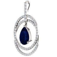 Fashion Design Halo Pendentifs en argent 925 Bijoux en argent sterling