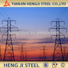 Tubo de acero galvanizado en caliente para soldar la torre de hierro