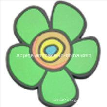 Coeur en PVC souple personnalisé en forme de fleur (Coaster-20)