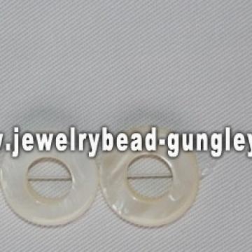 donut shape freshwater shell beads