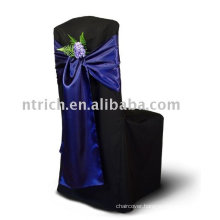 Satin chair cover sashes,chair ties,dark blue chair sashes