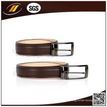 Bon prix véritable ceinture en cuir avec boucle à ardillon en métal