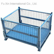 Stackable and Fixed Storage Pallet Container Cage