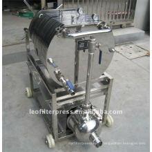 Filtration d'huile de presse de filtre de Leo examinant la plaque d'acier inoxydable et la presse de filtre de cadre