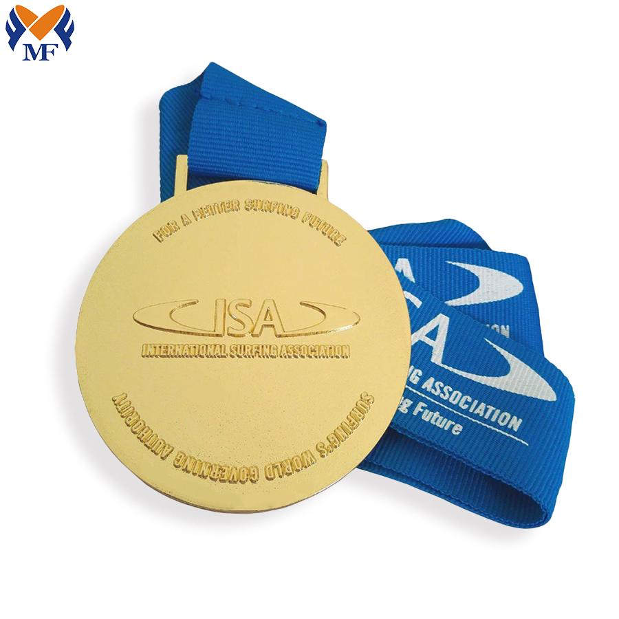 Raised Metal Gold Medal