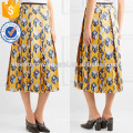 New Fashion Pleated Printed Silk-twill Midi Daily Skirt DEM/DOM Manufacture Wholesale Fashion Women Apparel (TA5001S)