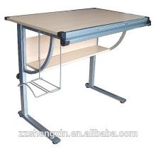 Mesa de desenho ajustável MDF de metal moderno