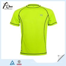 Großhandels-China-Gewohnheits-Entwurfs-leeres blaues Grün-T-Shirt