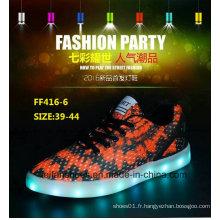 Nouveau Design Men Fashion LED Light Shoes Chaussures de sport (FF416-6)