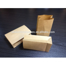 2015 hot sell recycled brown grocery kraft paper bag