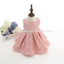 Baby girls princess party party kids plisados rosa ruching lace tutu dress recién nacido niña ropa