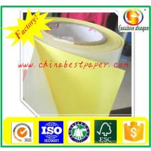 Бумага силикона выпуска 62г-желтая бумага-основа