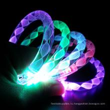 Радуга светодиодный мигающий свет вверх браслеты