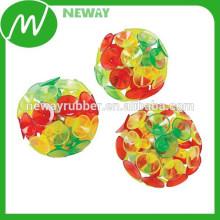 Bola colorida de la taza de la succión de la manera