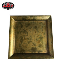 Square Antique Gold Plastic Charger Tray