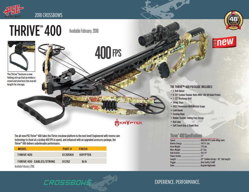 Cina PSE - THRIVE 400 CROSSBOW Produsen