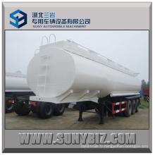30cbm ~ 50cbm 3 essieux Combustible Tanker Semi-remorque