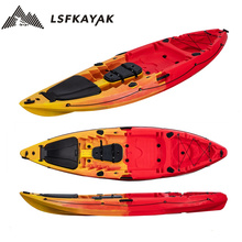 UK Market Popular 9.6ft Single sit on top single kayak for solo recreational and fishing made in China