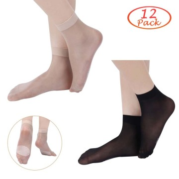 Kordear Frauen Nylon Anti-Rutsch-Socken 12 Paar