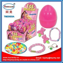 Plastic Surprise Egg with Toy Candy