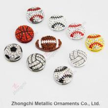 8mm Sportsball diapositivas encantos para la joyería de bricolaje