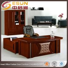 Neueste Design Holz elegantes modernes Exekutivmodell der Bürotische mit Beistelltisch