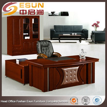 El último diseño de madera elegante moderno modelo ejecutivo de escritorios con mesa auxiliar