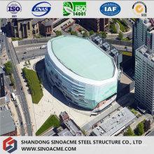 Estádio de estrutura de aço com design moderno