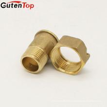 LB Guten top design personalizado medidor de água montagem O-anel de bronze conector giratório de mangueira de jardim