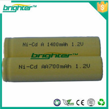 Gemacht in china um3 lr6 aa wiederaufladbare batterie nicd aa 700mah 1.2v