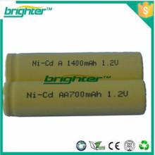Hecho en China um3 lr6 aa batería recargable nicd aa 700mah 1.2v